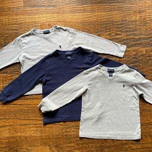 Bundle of 4T Long Sleeve Polo Tees
